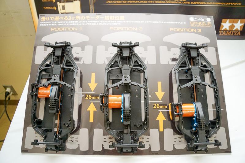 モーターの搭載位置によってハンドリングの特性が変わる