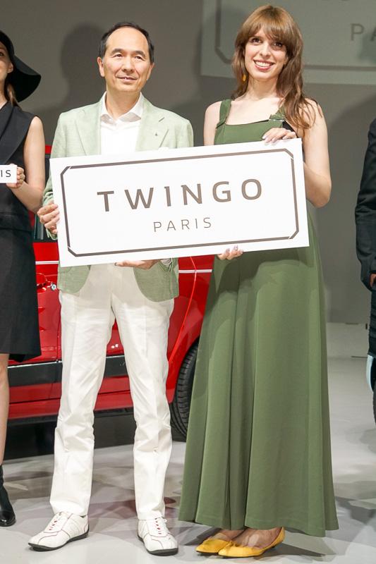 ルノー・ジャポン株式会社 代表取締役社長 大極司氏(左)とIVANさん(右)