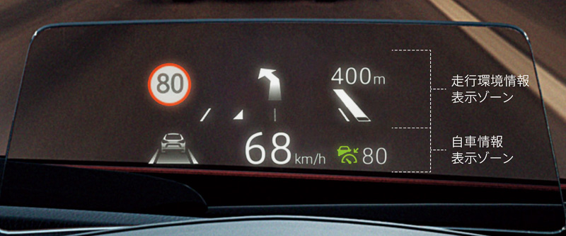 メーターパネル前方の「アクティブ・ドライビング・ディスプレイ」は視認性を高めたほか、新技術となる「交通標識認識システム(TSR)」が表示可能になった