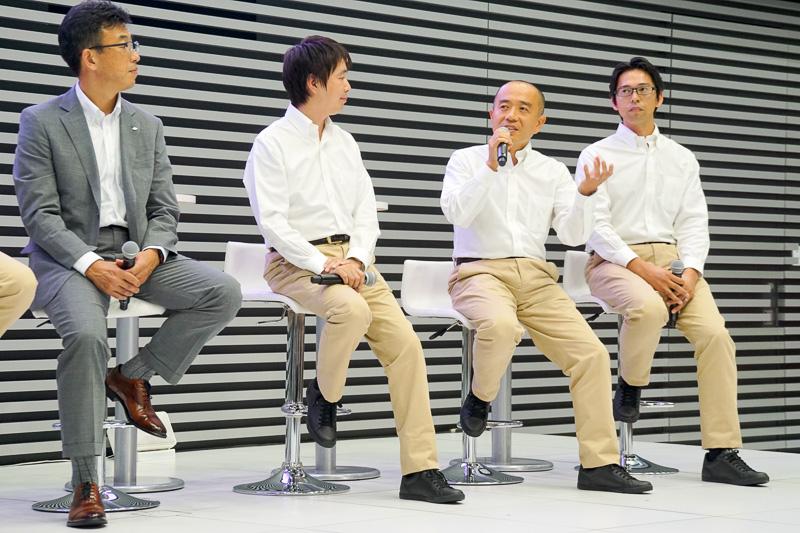 新型インプレッサの特徴となる部分について開発者たちがその思いを話していった