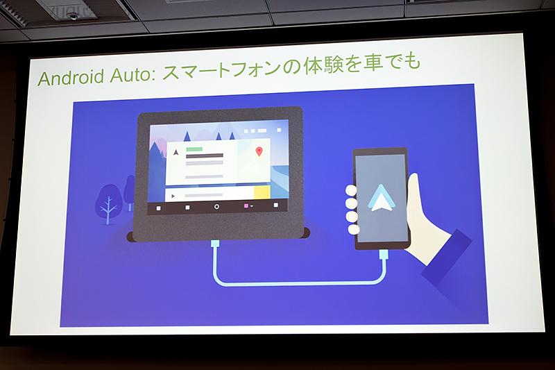 Android Autoはクルマの車内でも安全にスマホを利用できる