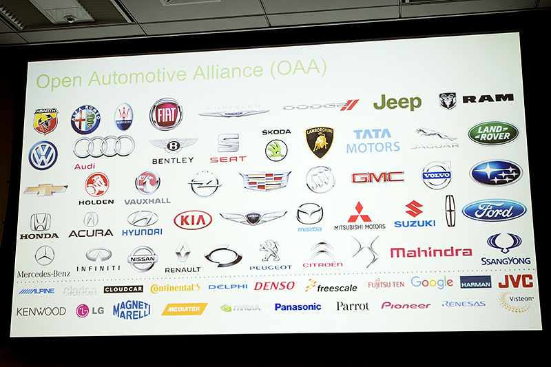 OAA(Open Automotive Alliance)には数多くのメーカーが参加