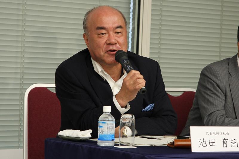 今後の戦略や展望について語る池田社長