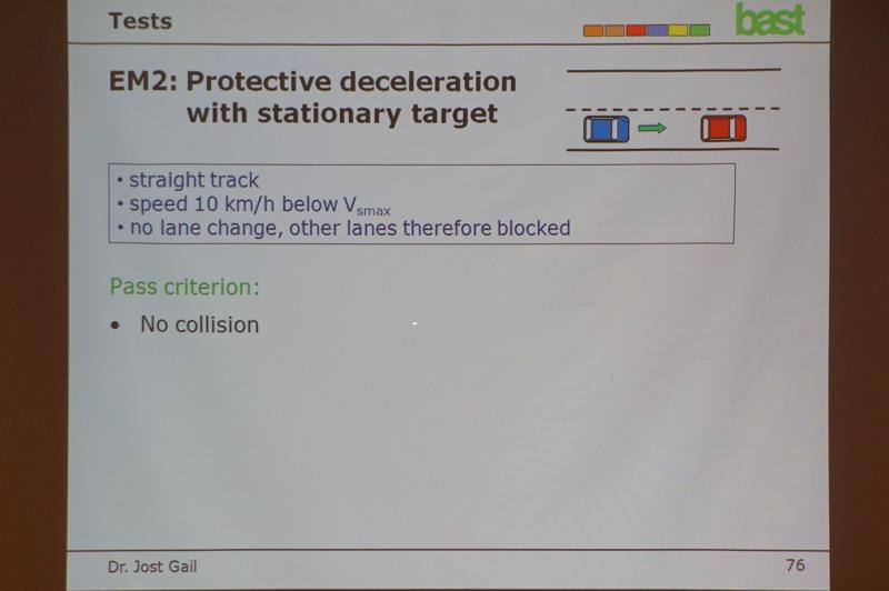 """パトリック・ゼイニガー氏のプレゼンテーション""""Regulation on Automated Steering Systems:ACSF"""""""