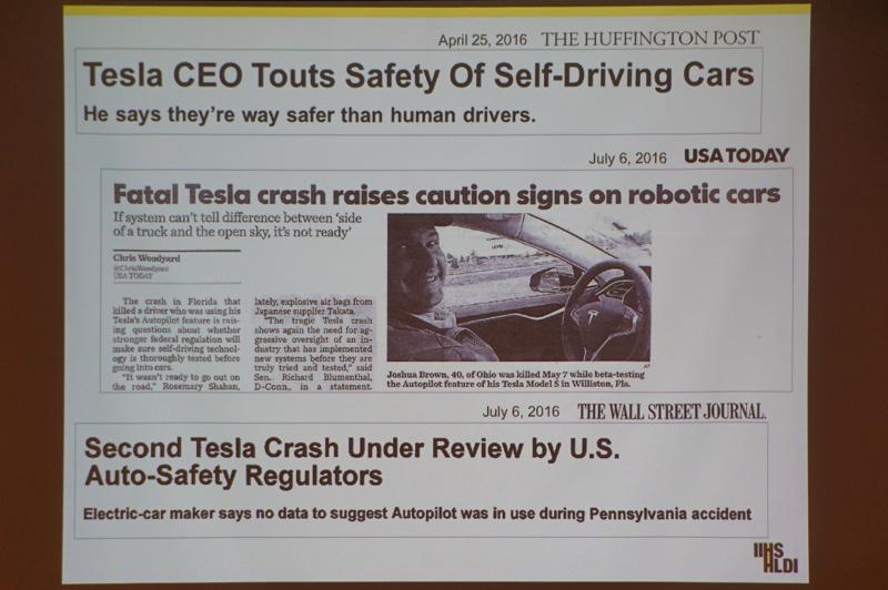 """エイドリアン・ランド氏のプレゼンテーション""""Automated Driving in US now and Future"""""""