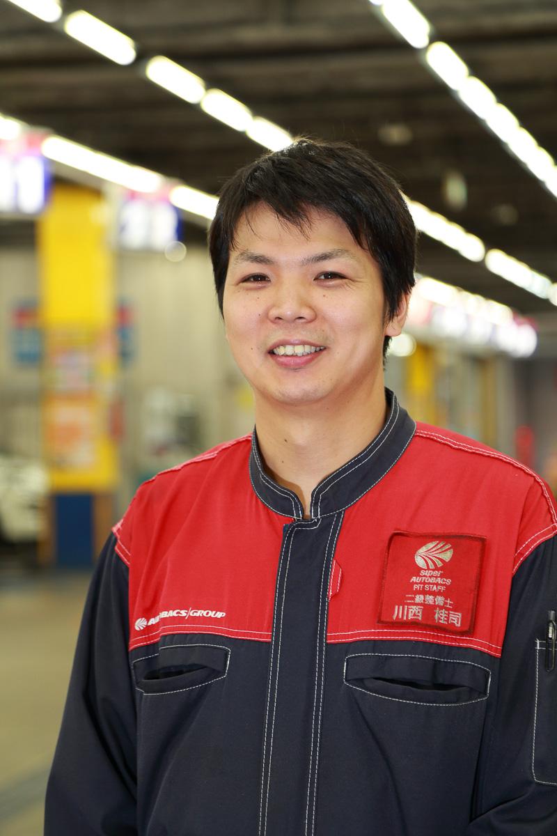 今回の作業を担当してくれた川西さん。暑い中、ありがとうございました!