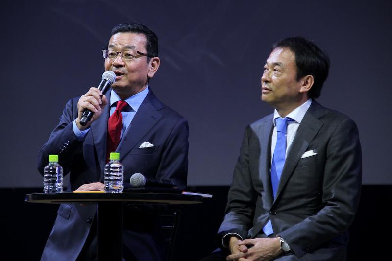 質疑応答で新型NSXを購入するかどうか問われる八郷社長