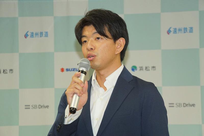 SBドライブ株式会社 代表取締役社長/CEO 佐治友基氏