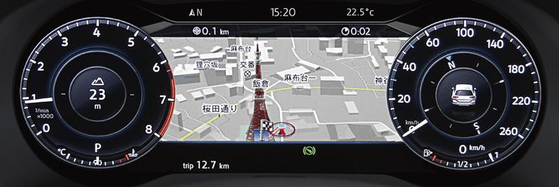 デジタルメータークラスター「Active Info Display」