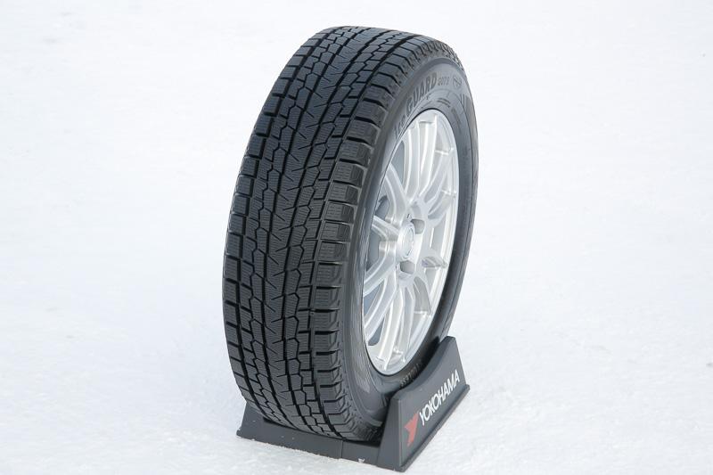 従来品の「ジオランダー I/T-S」と比較して氷上制動性能を23%向上させた「アイスガード SUV G075」