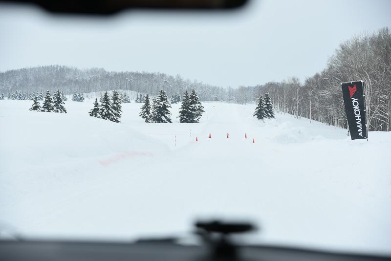 圧雪ハンドリング試験路
