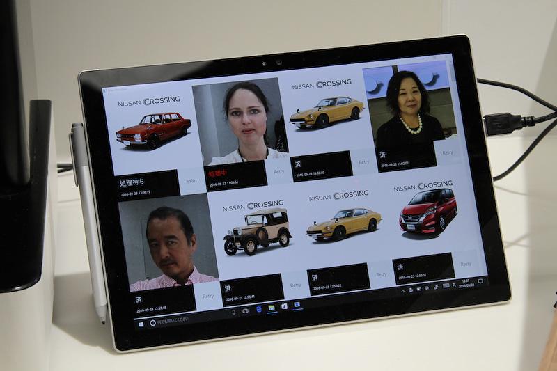 「CROSSING CAFE」で提供されるマキアート。デザインは9種類の車種から選択できるほか、タブレットで顔写真を撮り、その写真がクリームにデザインされるというサービスも