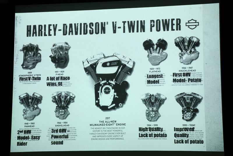 ハーレーダビッドソンの歴代エンジン。初代Vツインは1909年から始まった