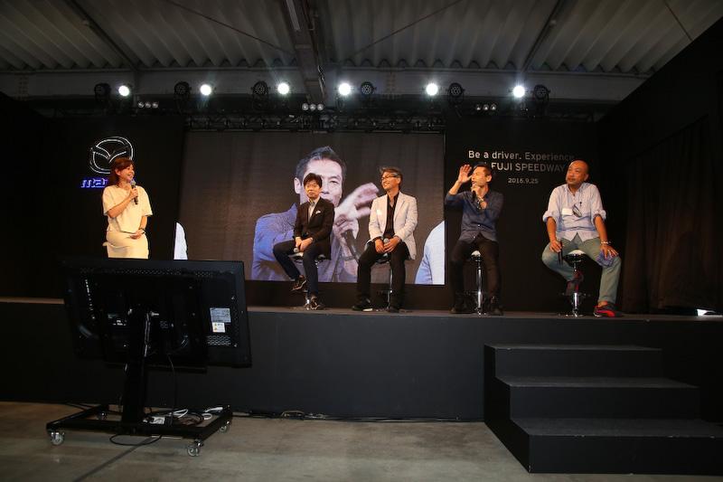 ステージではトークショーを中心としたコンテンツが設けられていて、各モデルの開発主査とチーフデザイナーによる開発秘話などが語られた