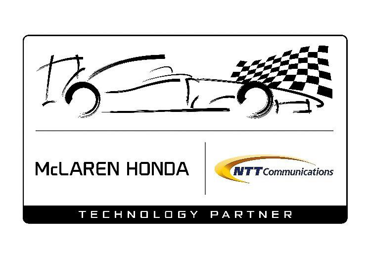 NTTコミュニケーションズは7月からマクラーレン・ホンダと3年間のテクノロジー・パートナーシップ契約を締結している