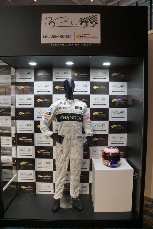 マクラーレンF1チームの展示