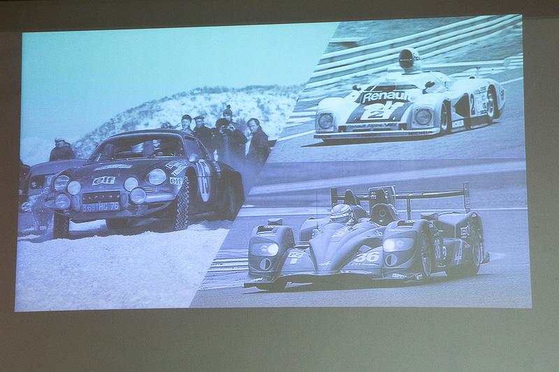 2013年からルノーとジョイントしているレーシングチーム「シグナチュール」のフィリップ・シノー氏。幼いころからレースが好きだったシノー氏にとって、アルピーヌは「いつもレジェンドであった」という