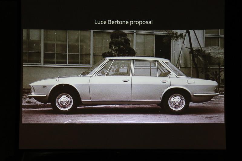 ベルトーネが手がけた「ルーチェ」のセダンモデルをベースに、マツダ社内のデザイナーがルーチェ ロータリークーペを開発。短いフロントオーバーハングを実現するため、新開発の「13A」型ロータリーエンジンが生み出された