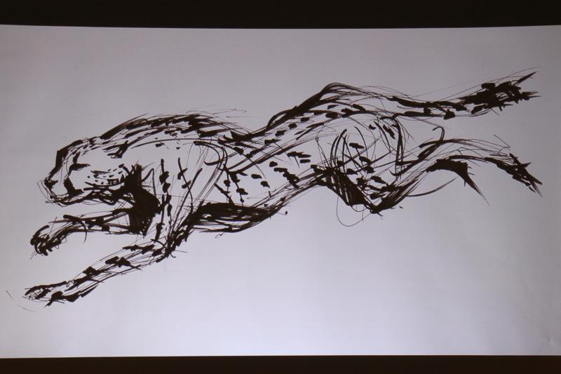魂動デザインのイメージは、地上で最も速く走る動物である「チーター」