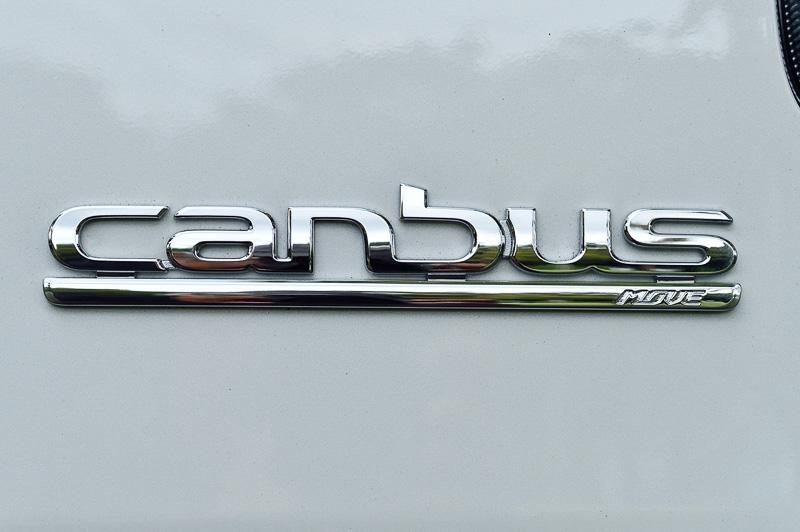 リアハッチの車名バッヂでは、このクルマがムーヴの派生車種であることをさりげなく主張