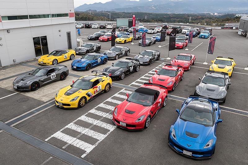 新型ピュアスポーツモデル「シボレー コルベット グランスポーツ」は、富士スピードウェイで開催されているユーザーイベント「シボレー コルベット ドライビングアカデミー 2016 at Fuji Speedway」の会場で公開された