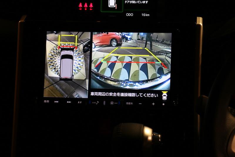 純正仕様は全車オーディオレスの2スピーカー。オプション装備の純正カーナビには車両周辺の状況を俯瞰表示する「パノラマモニター」を映し出すこともできる