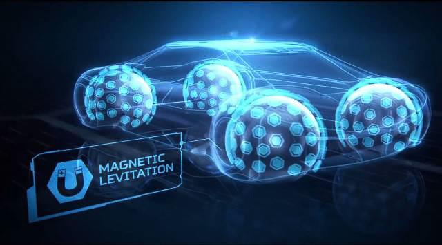 Eagle-360は磁気浮揚方式で車両とつながり、すべての方向に移動できる特異な性能を発揮する