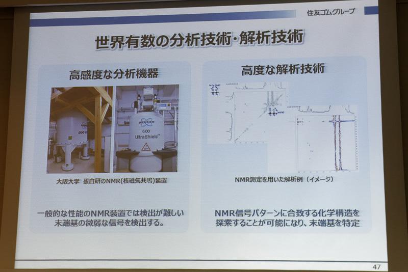 大阪大学が所有する高感度NMR(核磁気共鳴)装置で解析