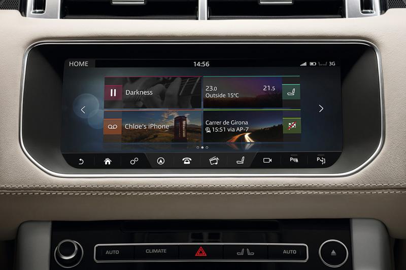 「InControl Touch Pro」ではランドローバーモデルとして初めて通信機能がオプション装着できるようになった
