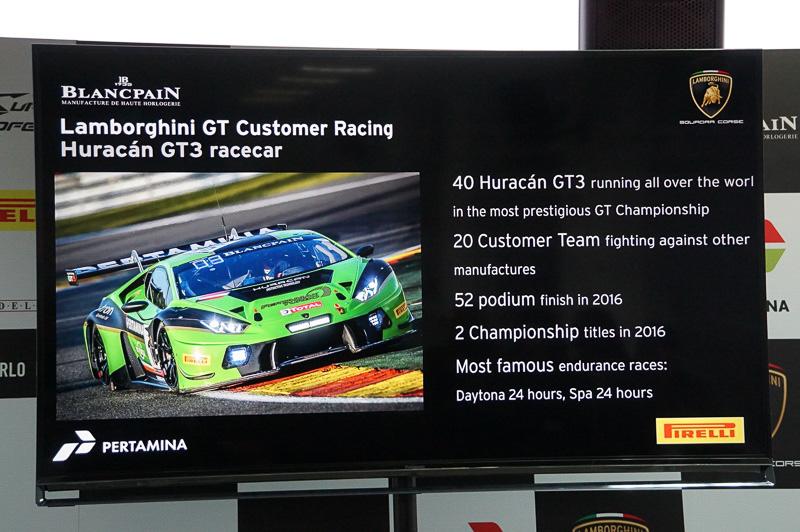 ウラカン GT3は世界中で40台が走っている、そのうち4台は日本のSUPER GT/GT300