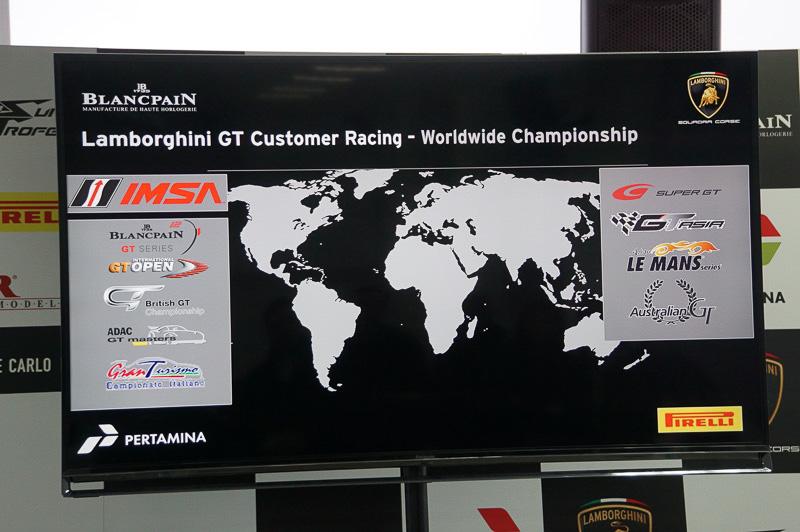 ウラカン GT3が走っているGTレーシングのシリーズ