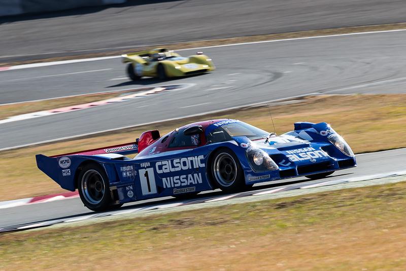 サーキットサファリが行なわれた時間帯には新旧多くのレースカーがコースを走行
