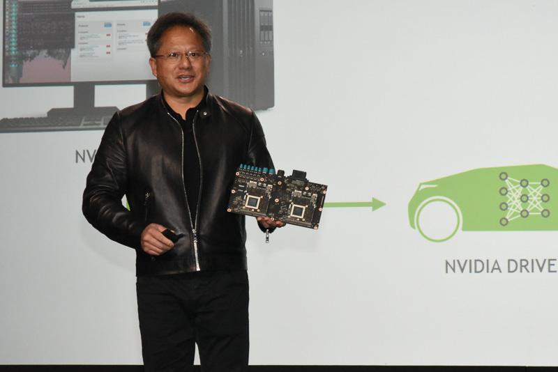 NVIDIA 創設者兼CEO ジェンスン・フアン氏は、2016年のCESにおいては、会期に合わせてプレスカンファレンスを実施。自律自動運転モジュール「DRIVE PX2」を世界初公開した