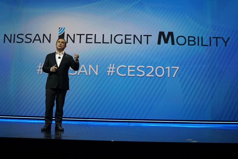 ゼロ・エミッション」「ゼロ・フェイタイリティ」の達成を最終目標と定めた「ニッサン・インテリジェント・モビリティ」について語る、日産自動車株式会社 CEO カルロス・ゴーン氏