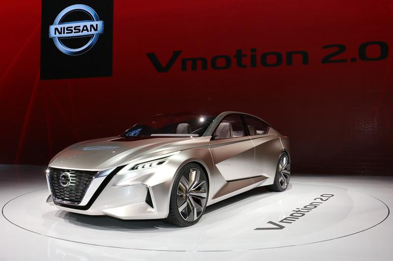 デトロイトショーで世界初公開された新型コンセプトカー「Vmotion 2.0」
