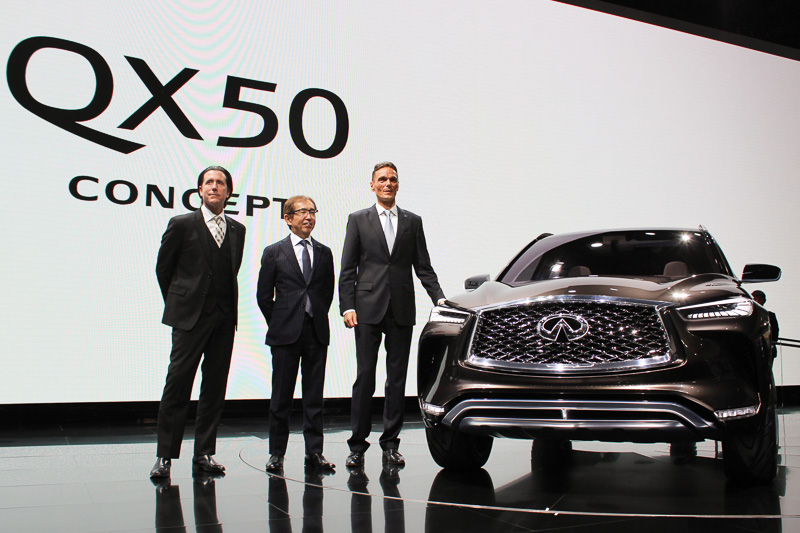 2017年のデトロイトショーで世界初公開されたインフィニティ「QX50コンセプト」