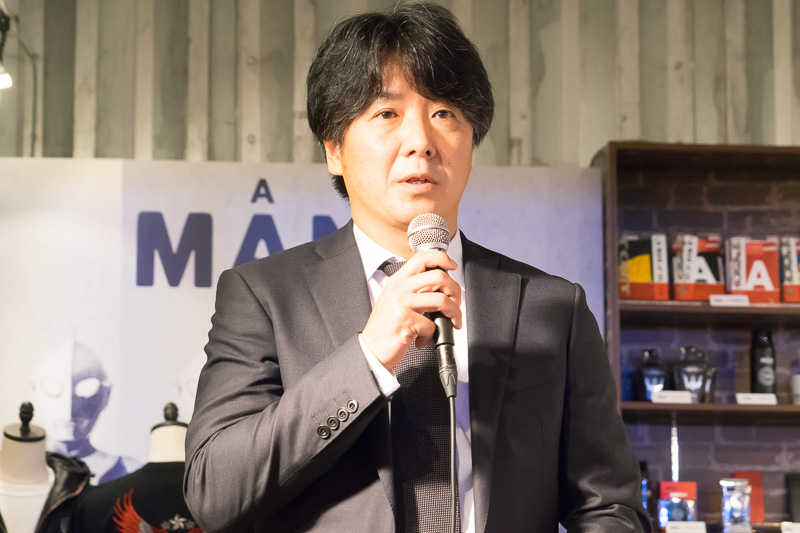 A MAN of ULTRAをまとめるフィールズ株式会社 代表取締役社長 繁松徹也氏が挨拶