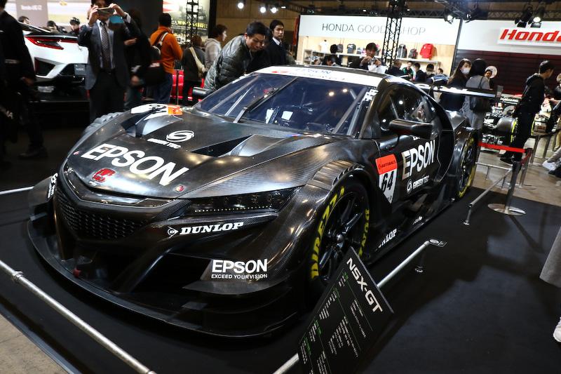 ホンダブースにはEpson Nakajima RacingのNSX-GTが展示される