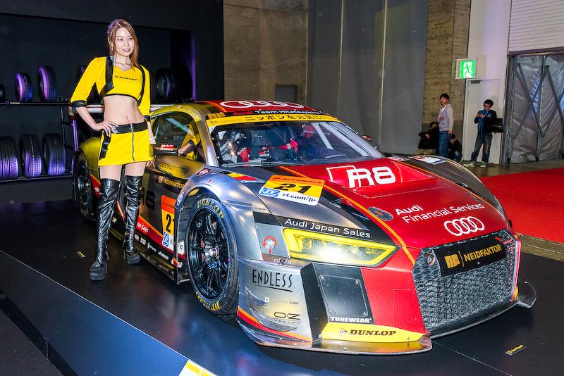 SUPER GT GT300クラスの参戦車両「Hitotsuyama Audi R8 LMS」
