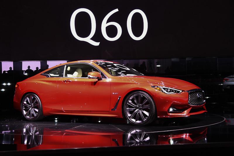 2016年のデトロイトショーで市販モデルとしてデビューした「Q60」