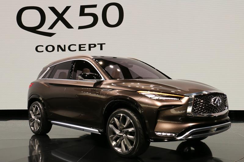 2017年のデトロイトショーで初公開された「QX50コンセプト」