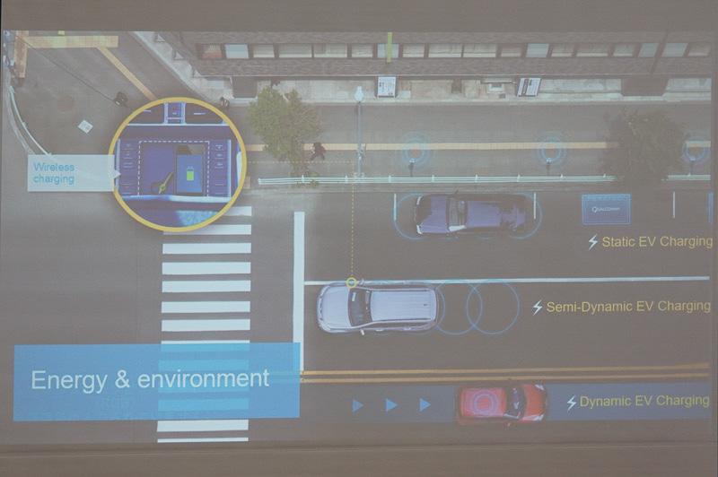 最初のターゲットは静的な駐車状態での充電だが、将来的には低速や通常速度での動的な状態での充電も検討されている