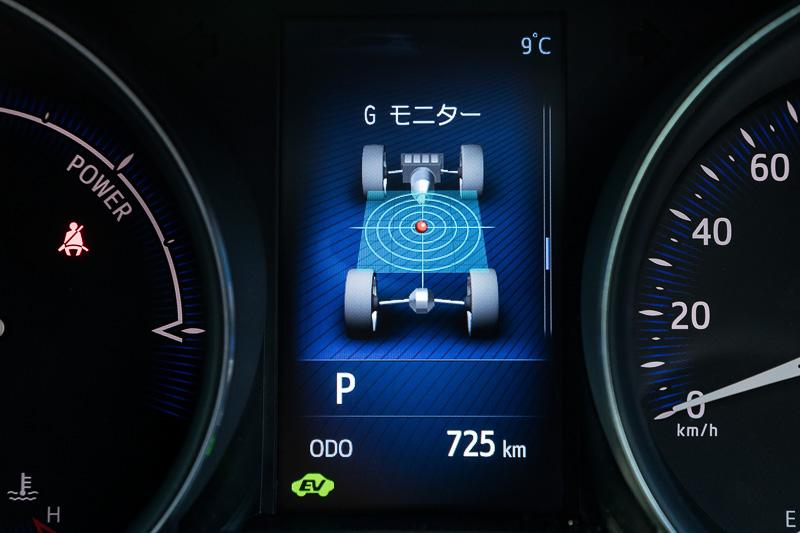 4.2インチTFTのカラーマルチインフォメーションディスプレイにはハイブリッドシステムも作動状況やGモニターなど多彩な情報表示が可能