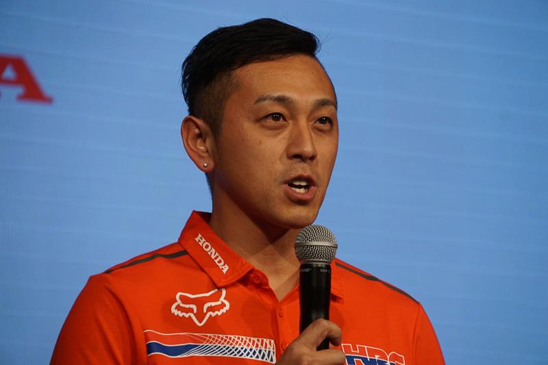全日本モトクロス選手権に参戦する成田亮選手(Team HRC)