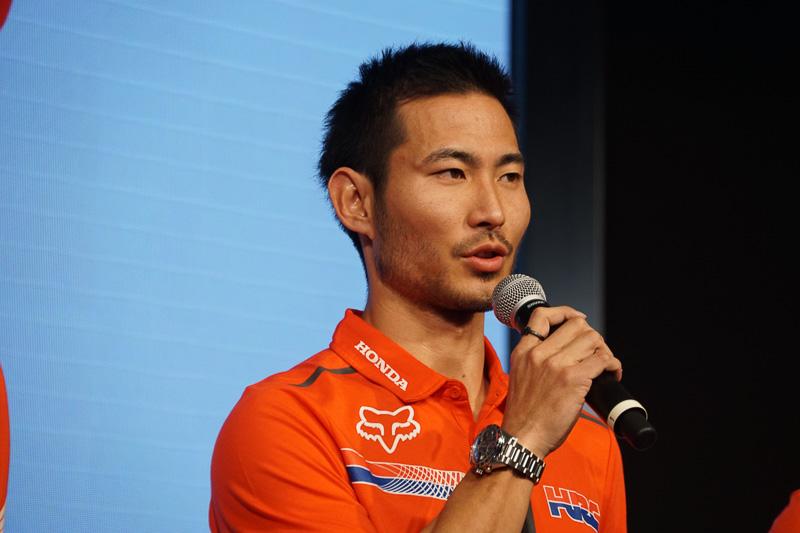 全日本モトクロス選手権に参戦する山本鯨選手(Team HRC)