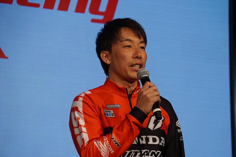 全日本トライアル選手権に参戦する小川友幸選手(HRC CLUB MITANI)