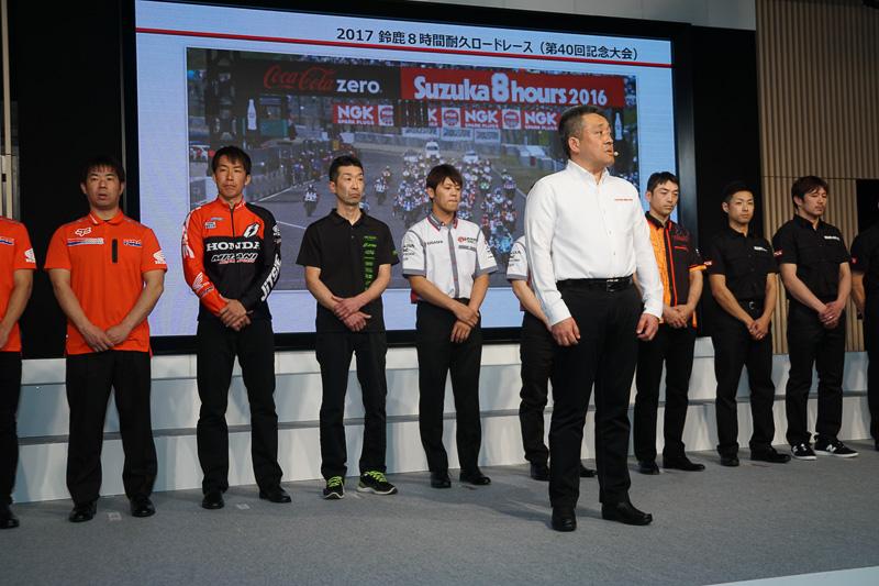 鈴鹿8時間耐久ロードレースに向けて、山本氏は「必勝体制で臨む」と意気込みを示した