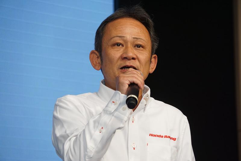 株式会社本田技術研究所 HRD Sakura スーパーフォーミュラ プロジェクトリーダーの佐伯昌浩氏