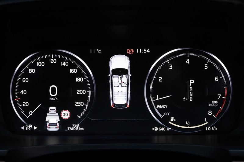 デジタル式の12.3インチ・ドライバー・ディスプレイは4モードから表示を選択できる