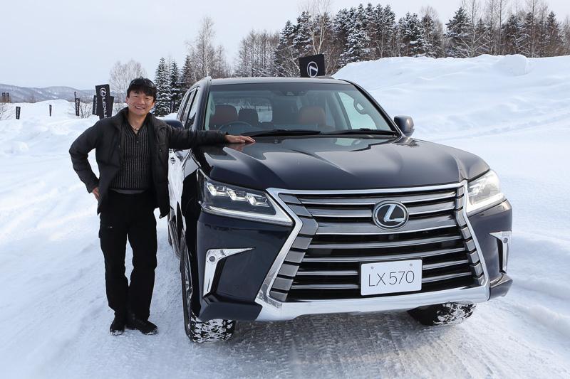 「LX570」などのレクサス車を雪上試乗する「LEXUS SNOW EXPERIENCE」に参加した